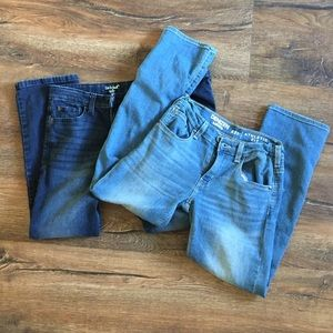 Lot of 2 Pairs Boys Jeans Size 12